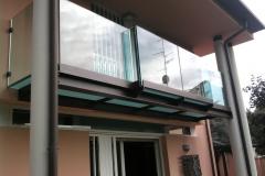 Parapetto acciaio e vetro - Budrio